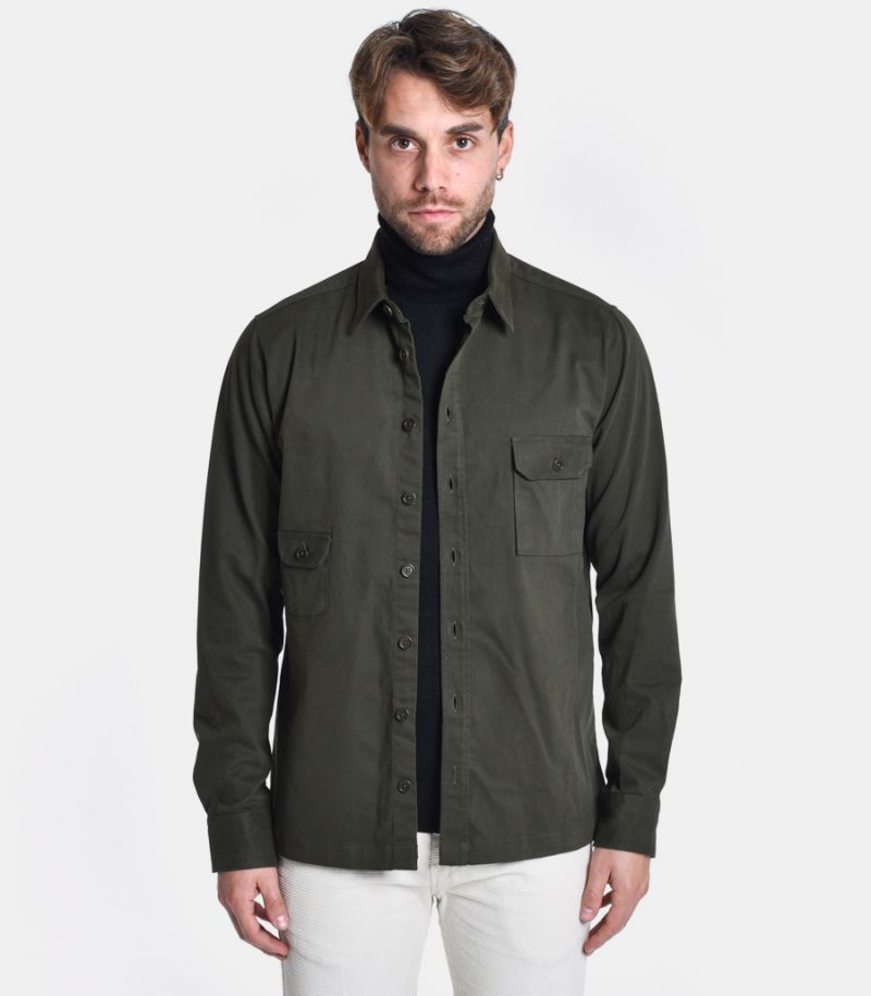 Men's military shirt with pockets green. FIL02/2
