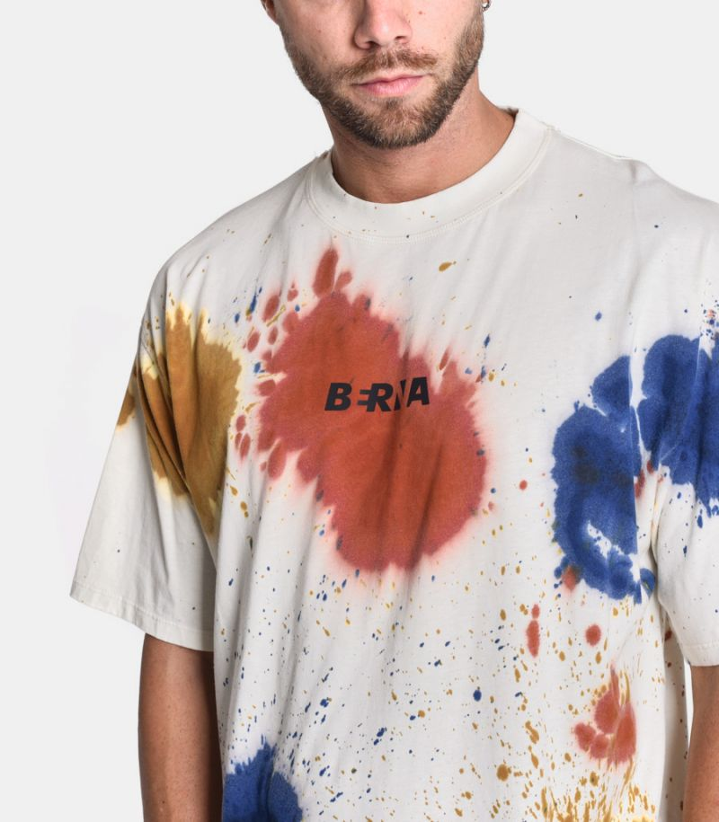 Men's oversize t-shirt Splashed white. 205121-30