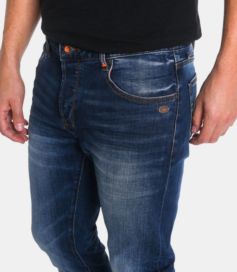 Men's selvedge jeans blue. M205101-30