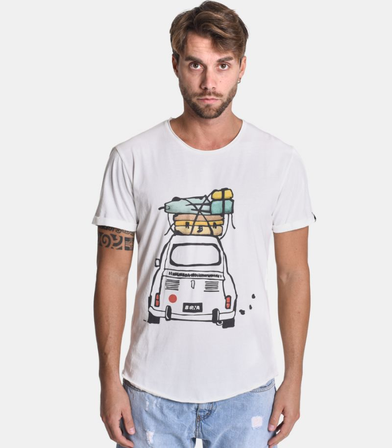 Men's 500 suitcase t-shirt white. M205157-30