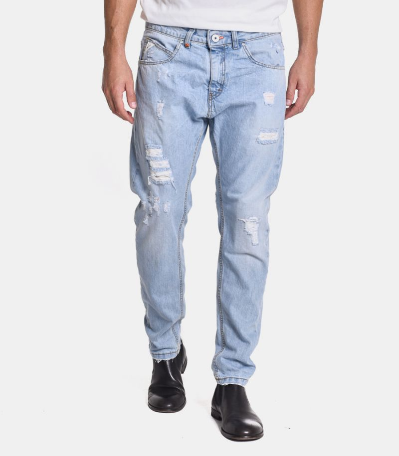 Men's ribbed jeans light blue. M 205055-30
