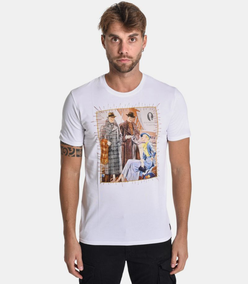 Men's gentlement bis t-shirt white. GENTLAMENT0064