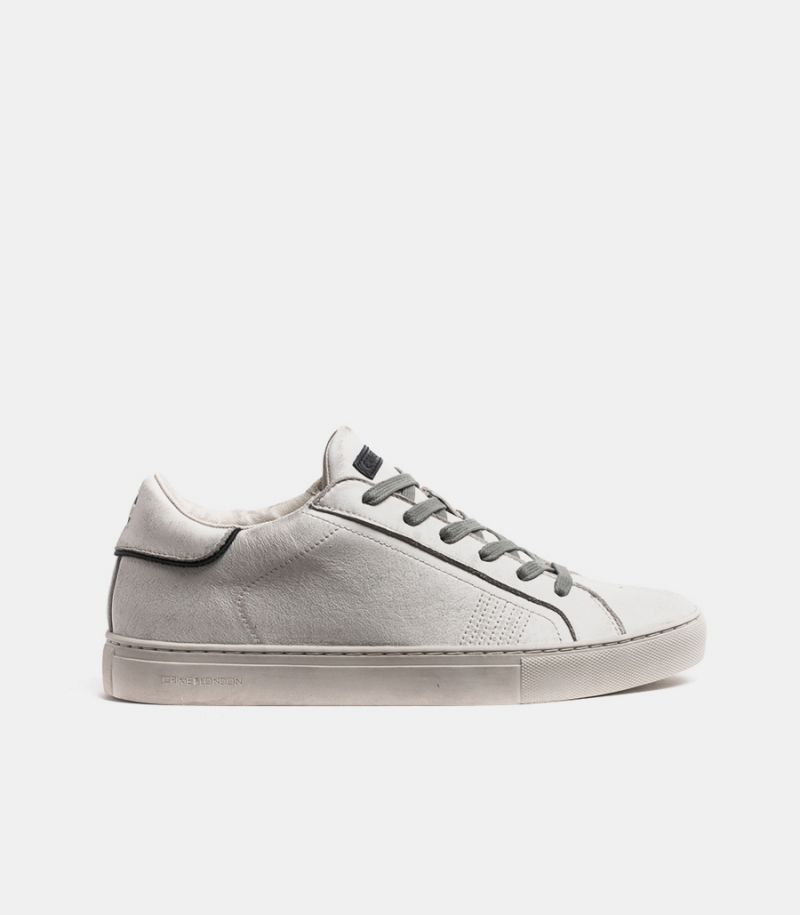 Men's sneaker low in real leather white. 11600AA3