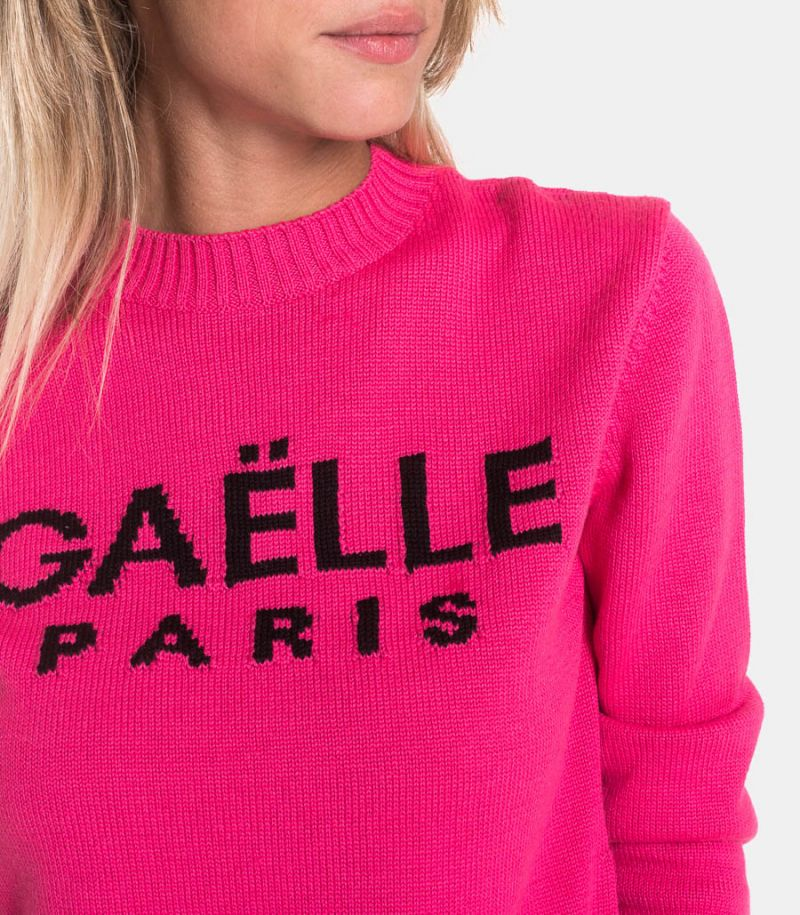 Women's logo sweater pink. GBD7000