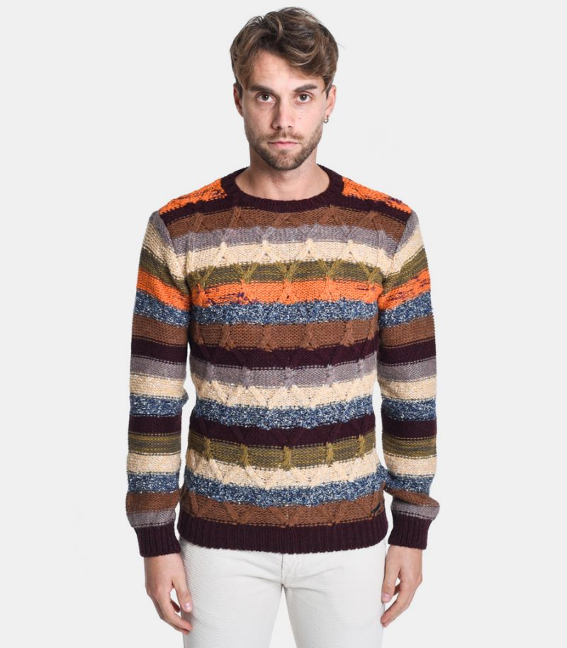 Men's roundneck sweater multicolor. BW787