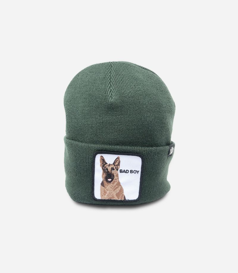 Unisex's knitted hat Bad Boy green. GOO BAD BOY 107-0208