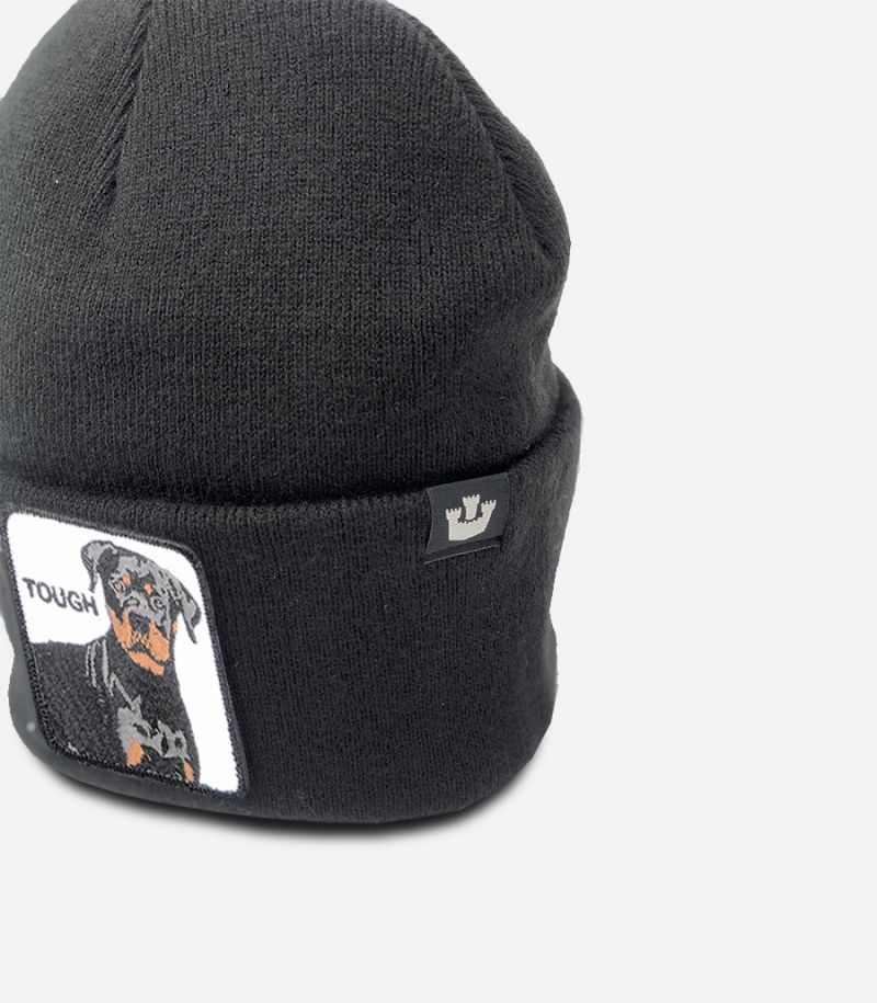 Men's knitted hat Tough black. GOO TOUGH 107-0597