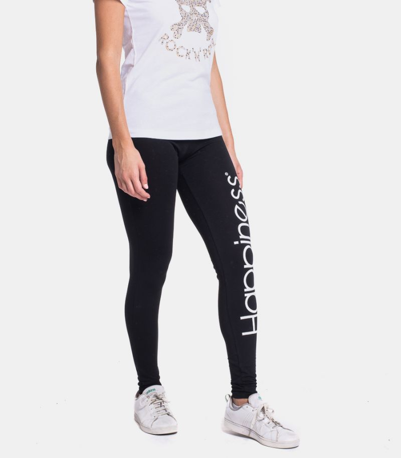 Women's skinny leggins with logo black. EL LEG2