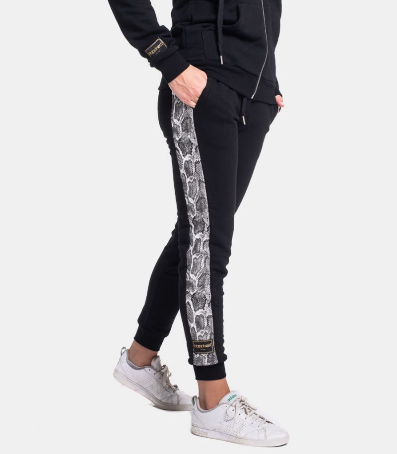 Women's fleece Python trousers black. I20 CLASSICINPI