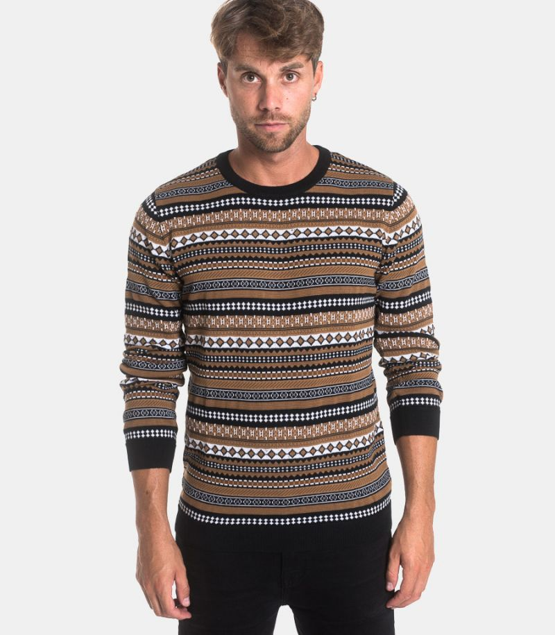 Men's roundneck sweater fancy mud. 1014 MAGLIA