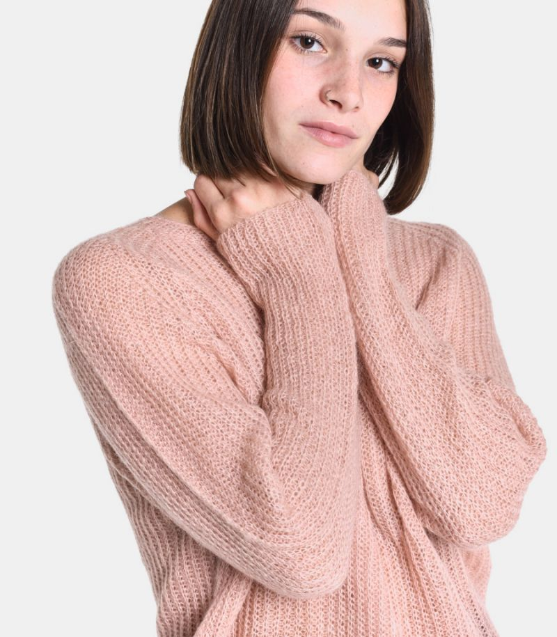 Women's sleeve boat sweater pink. 3M8060