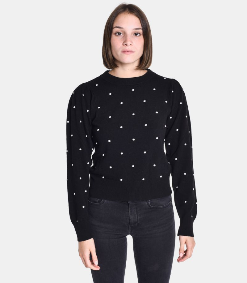 Women's pois sweater black. 3M8077