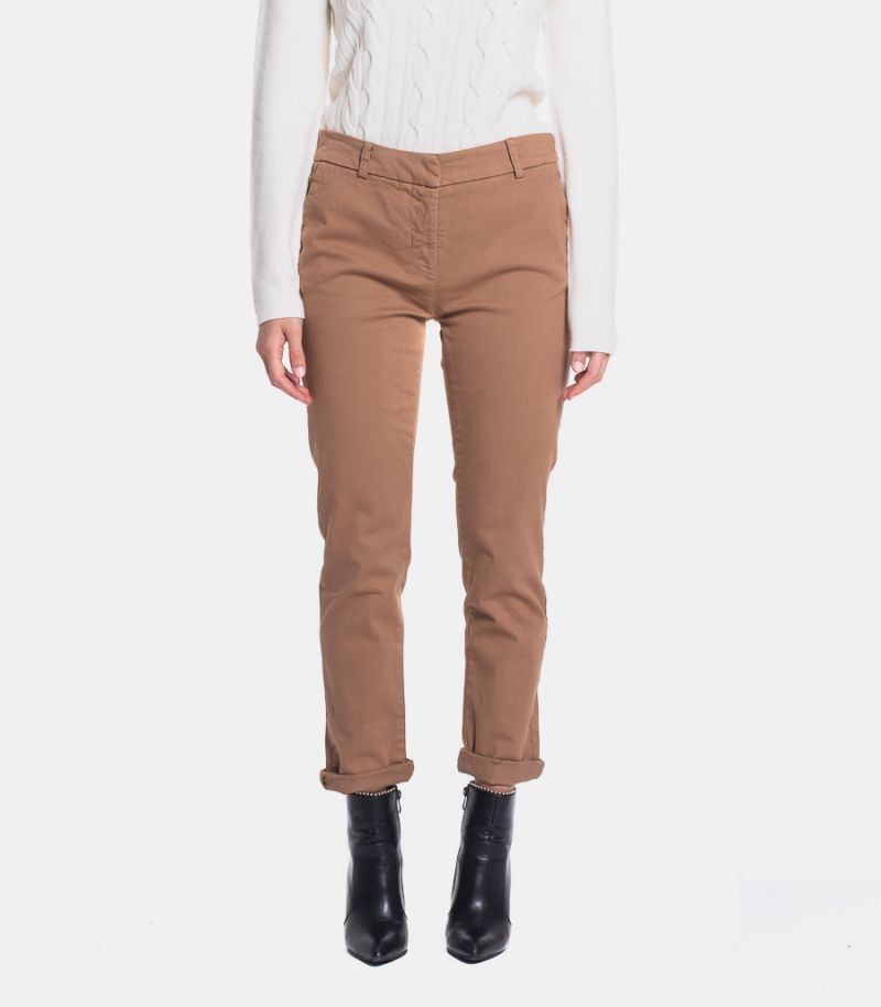 Women's chinos trousers cinnamon. TT8005