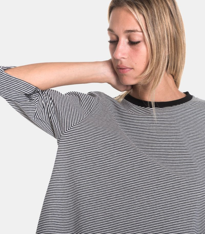 Women's striped sweater white black. 219950