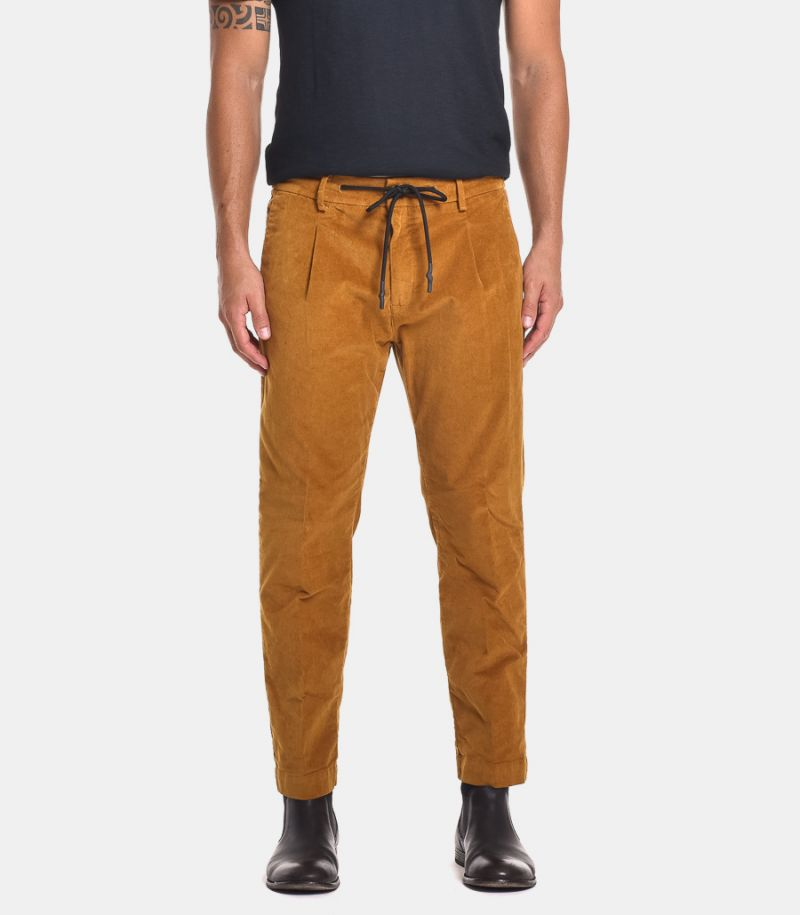Men's trousers with lace mustard. MK89548