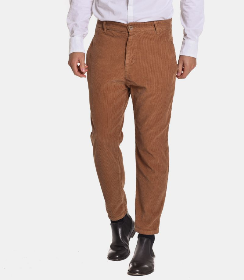 Men's narrow ribbed trousers camel. OF1F2WOPO45/470