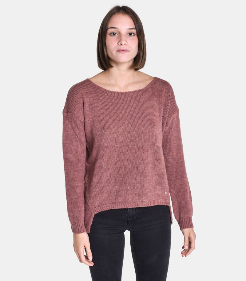 Women's boat neck sweater onion. M49775001