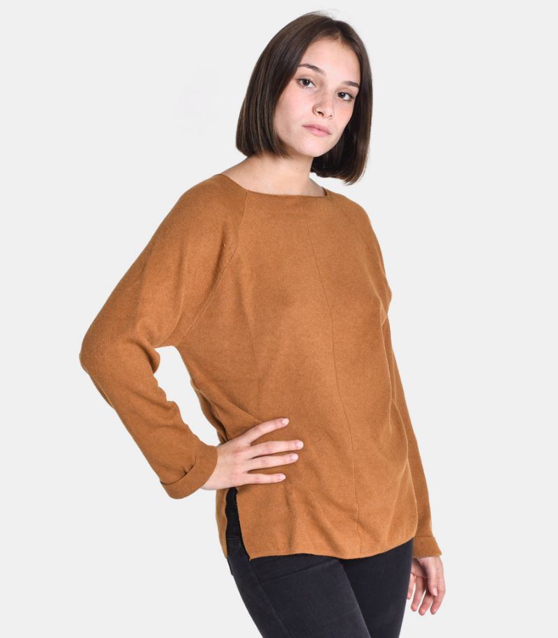 Women's raw cut sweater biscuit. M65038353