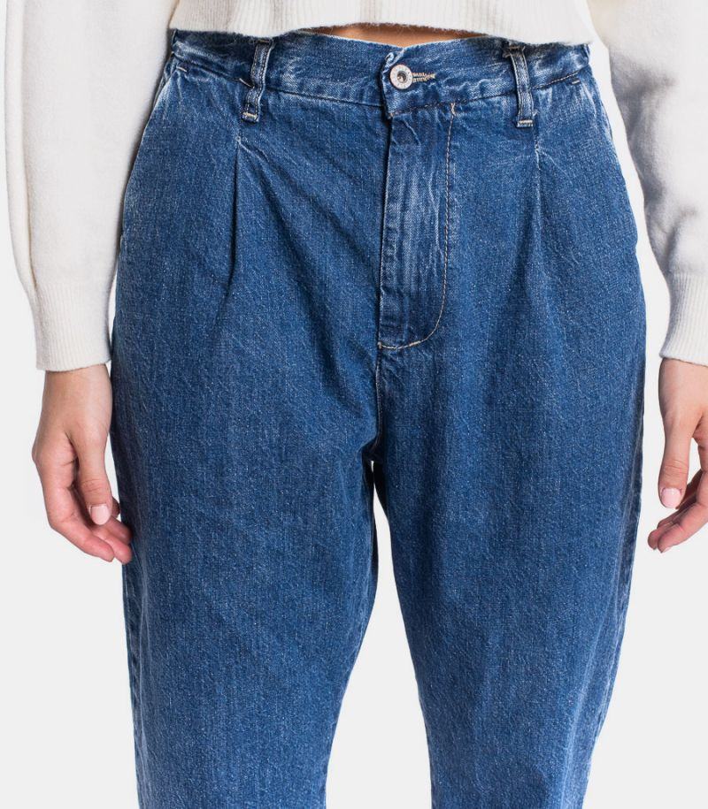 Women's jeans hight waist with pence blue. POK3EHOPPP