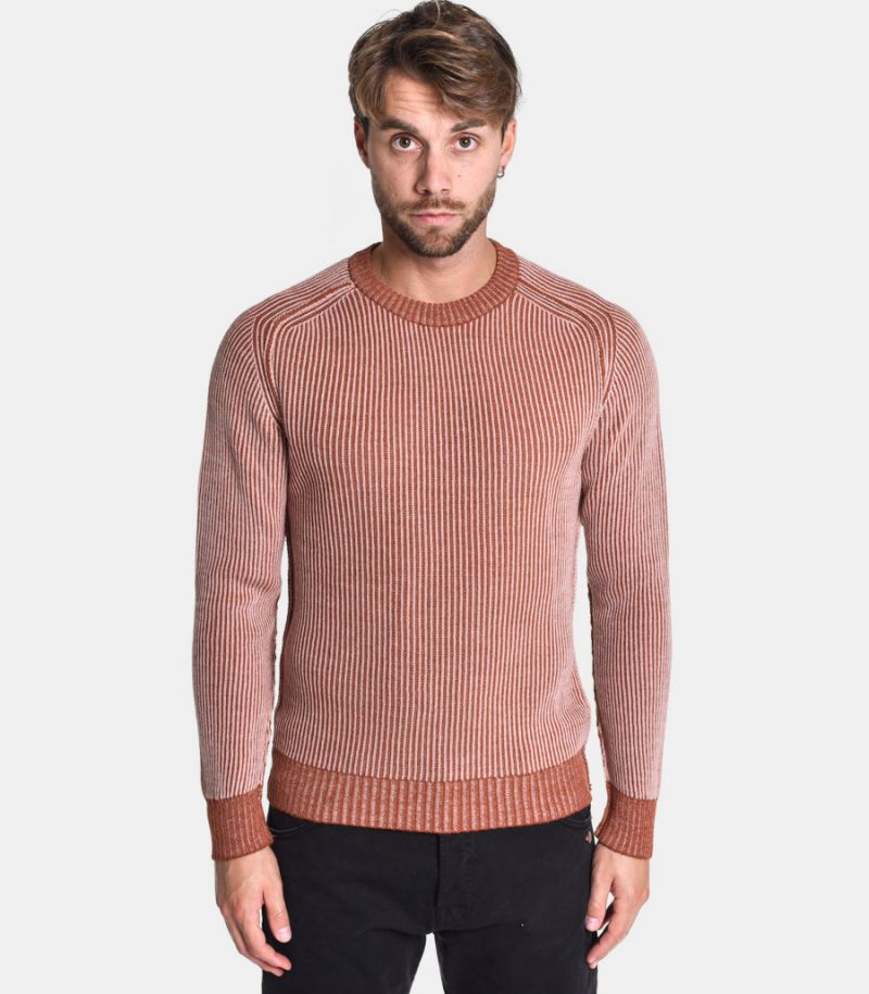 Men's revesible sweater earthenware. 0358