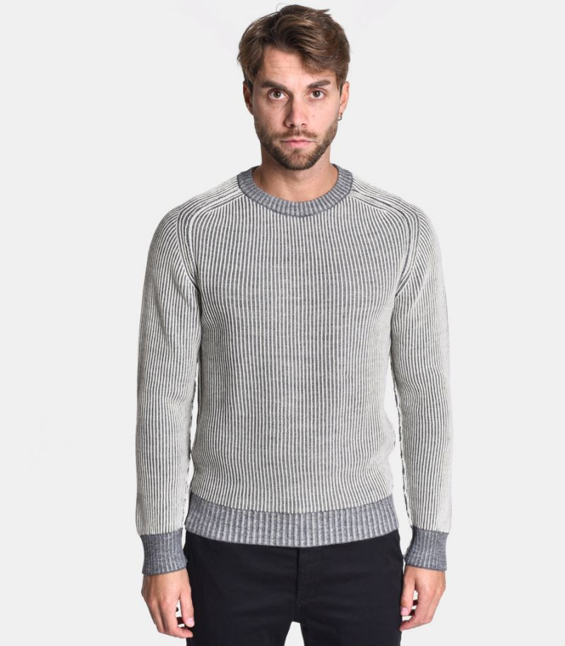 Men's reversible sweater grey. 0358