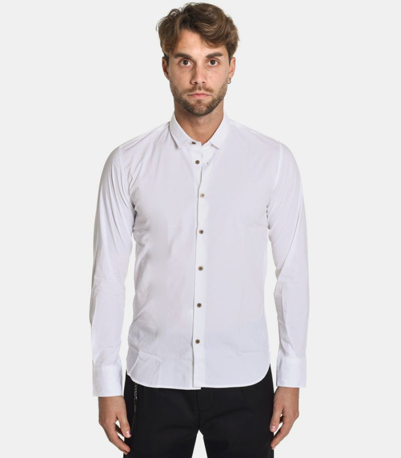 Men's basic shirt white. 628 COL.1