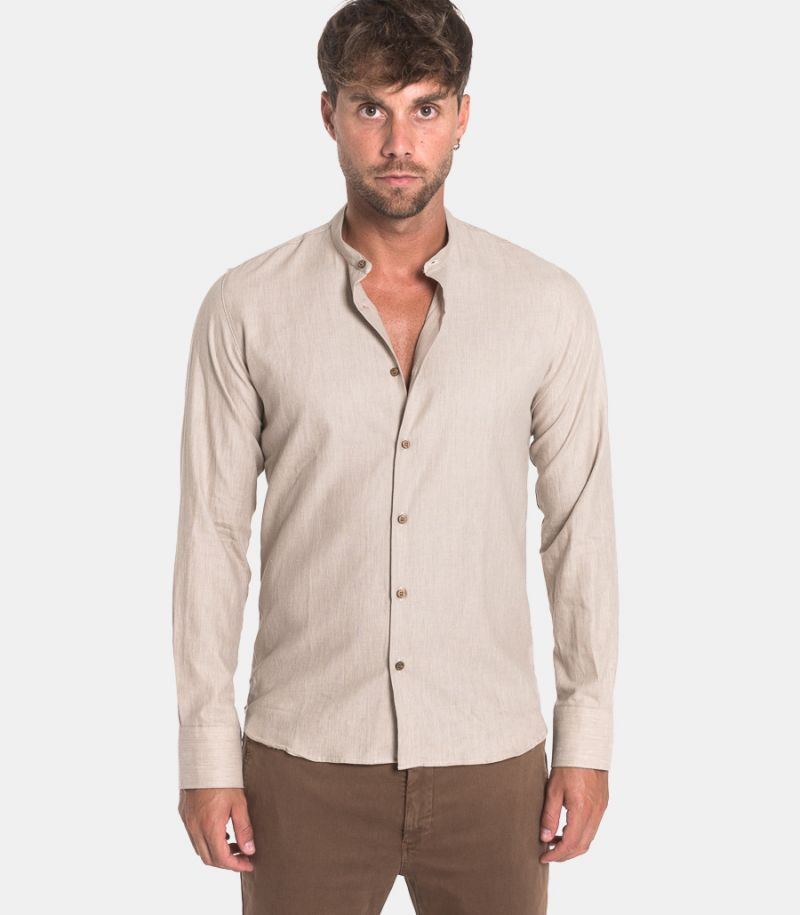 Men's corean shirt beige. BERNA DIS.10