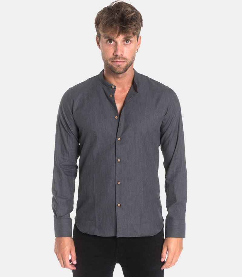 Men's corean shirt grey. BERNA DIS.10