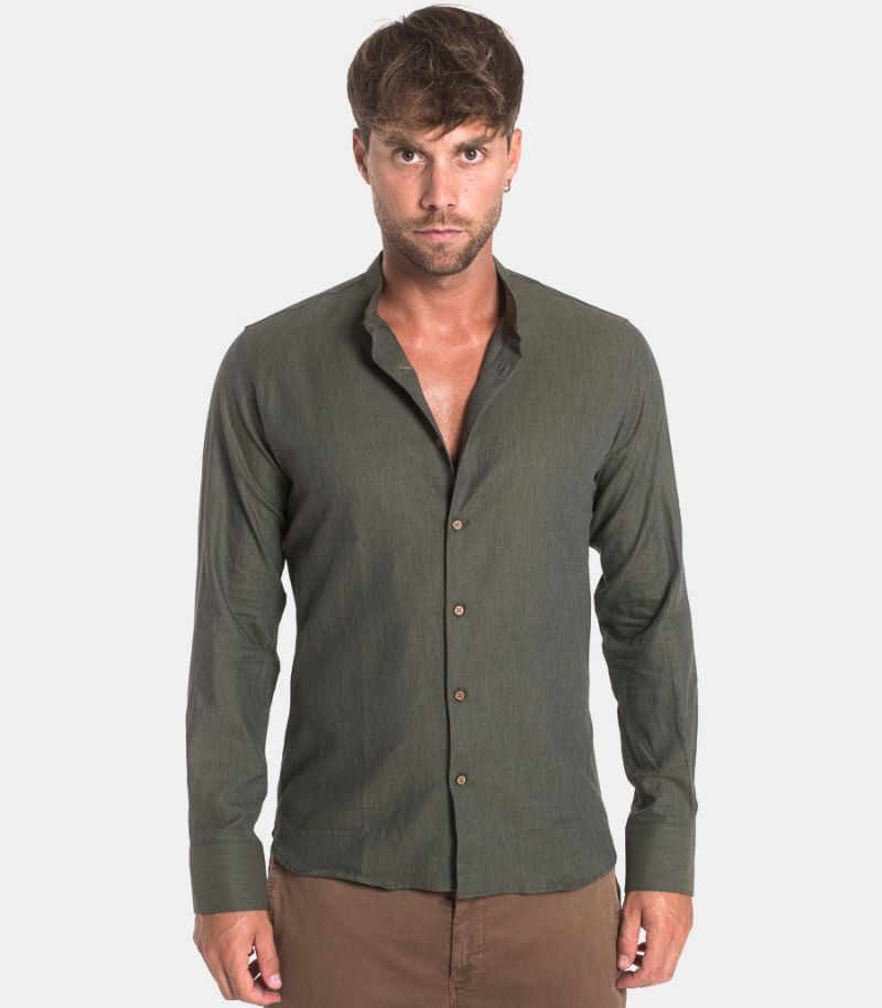 Men's corean shirt green. BERNA DIS.10