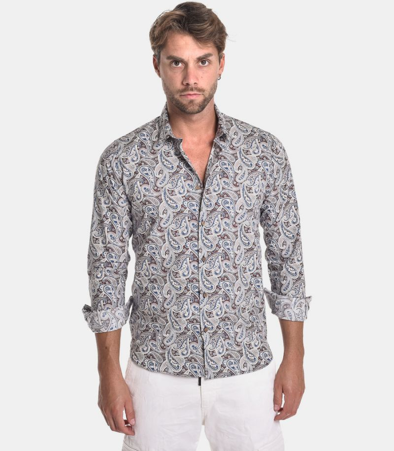 Men's Como shirt microfancy. COMO STAMP 110