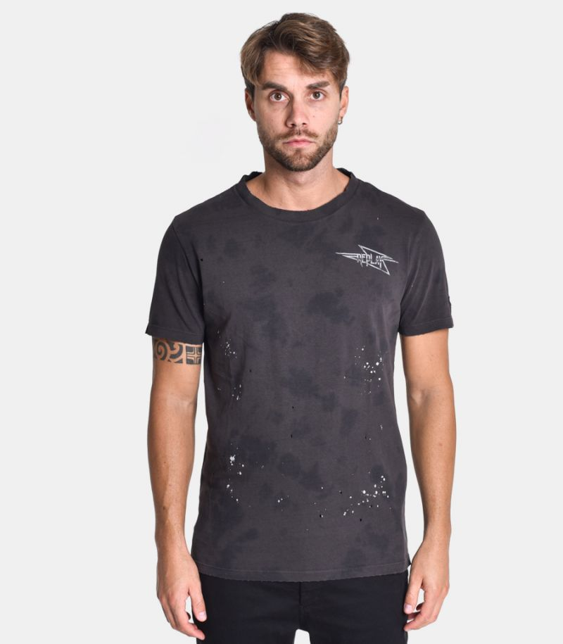 Men's Velvet Chain t-shirt black. M3175