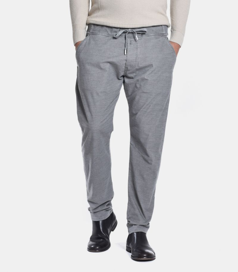 Men's microworked chinos with lace grey. M9730 000 S80899 050