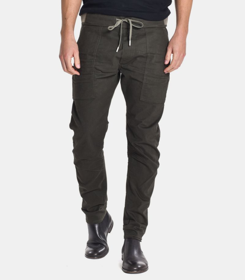 Men's lace trousers military green. M9732S80901