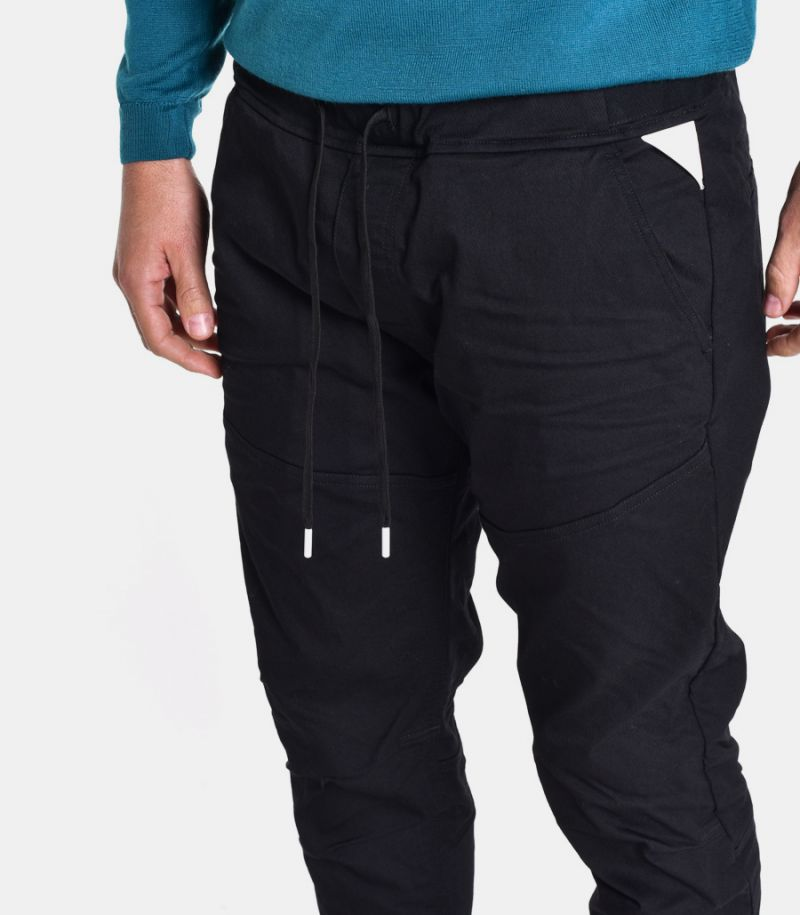 Men's trousers with lace black. M9734 000 S80891 098