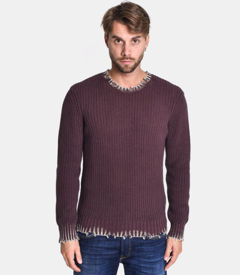 Men's cracks sweater bordeaux. UK8008.000.G22454S.278