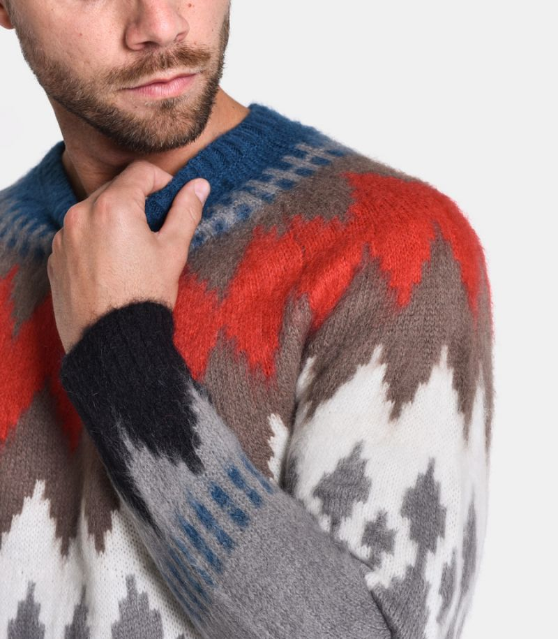 Men's fancy sweater multicolor. UK8014.000.G22652.030