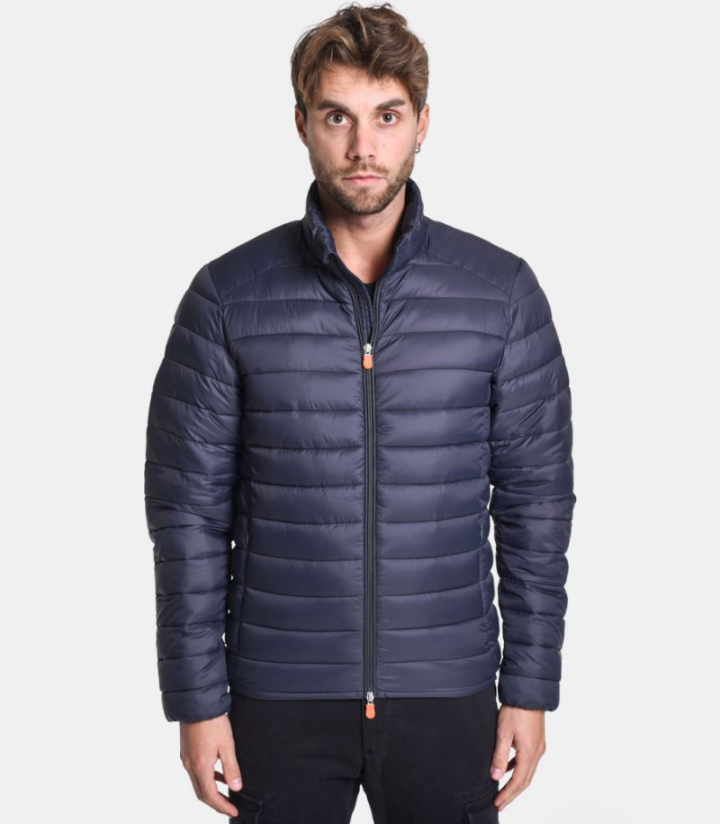 Men's korean basic quilted downjacket grey. D3243M
