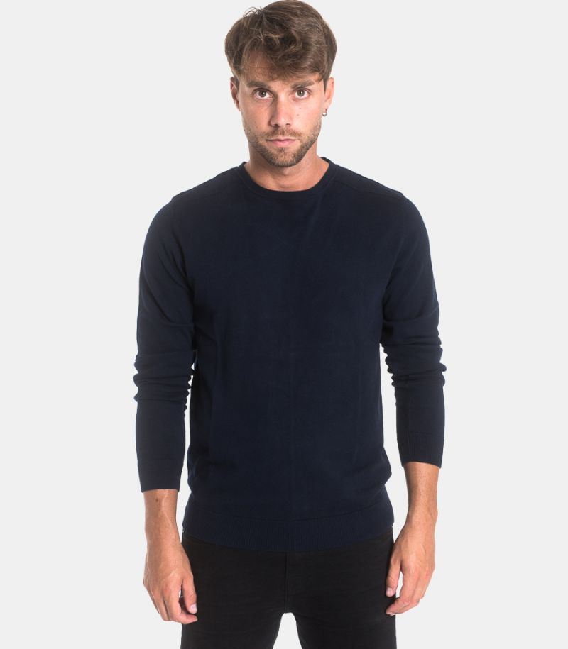 Men's basic sweatshirt blue. 16074682