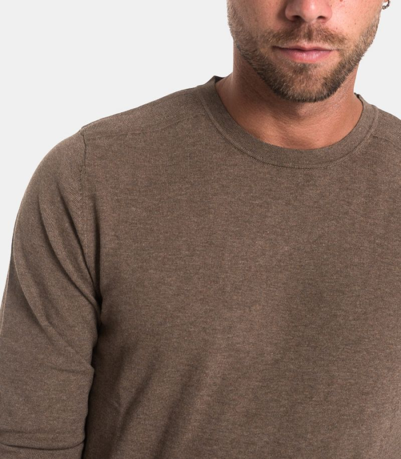 Men's basic sweatshirt brown. 16074682