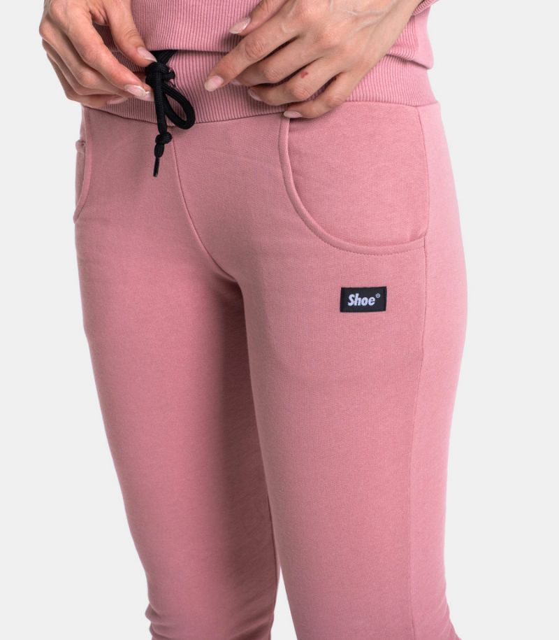 Women's fleece trousers with logo powder. PAULA01