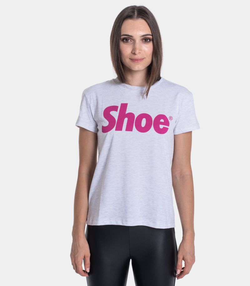 Women's t-shirt with logo grey. TISHA0140
