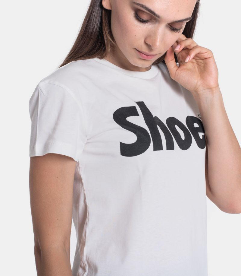 Women's t-shirt with logo cream. TISHA0140