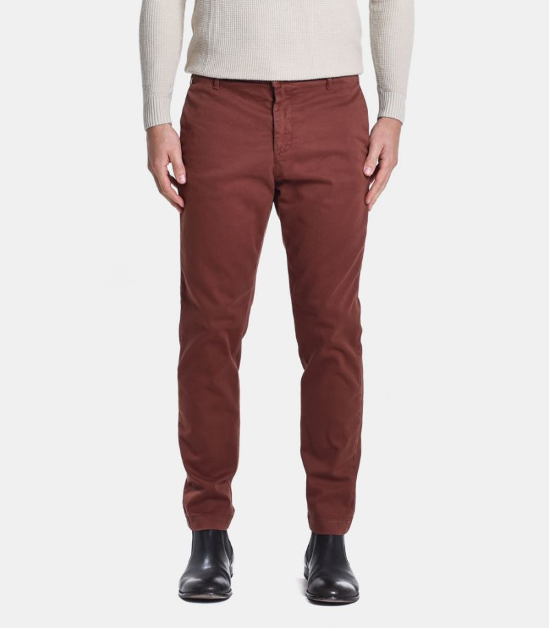 Men's basic chinos trouser tobacco. 145CADE200C