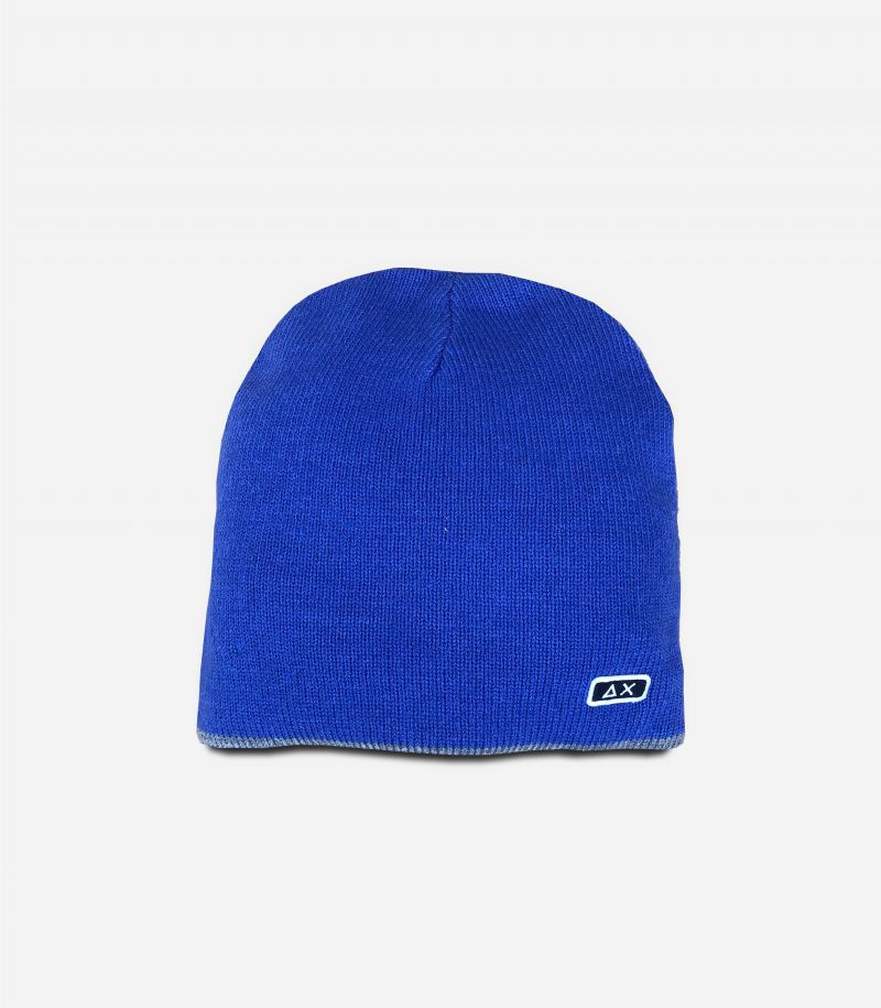 Men's beanie wool hat with logo light blue. C40101
