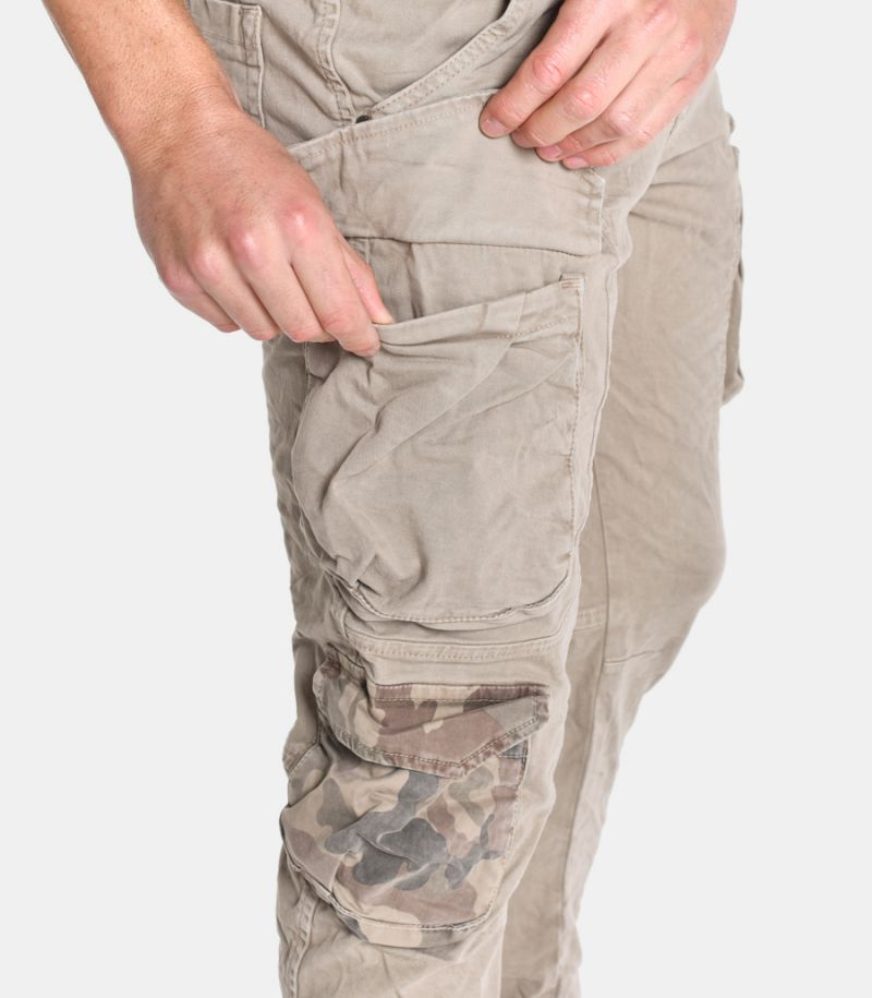 Men's cargo trousers beige. WP200