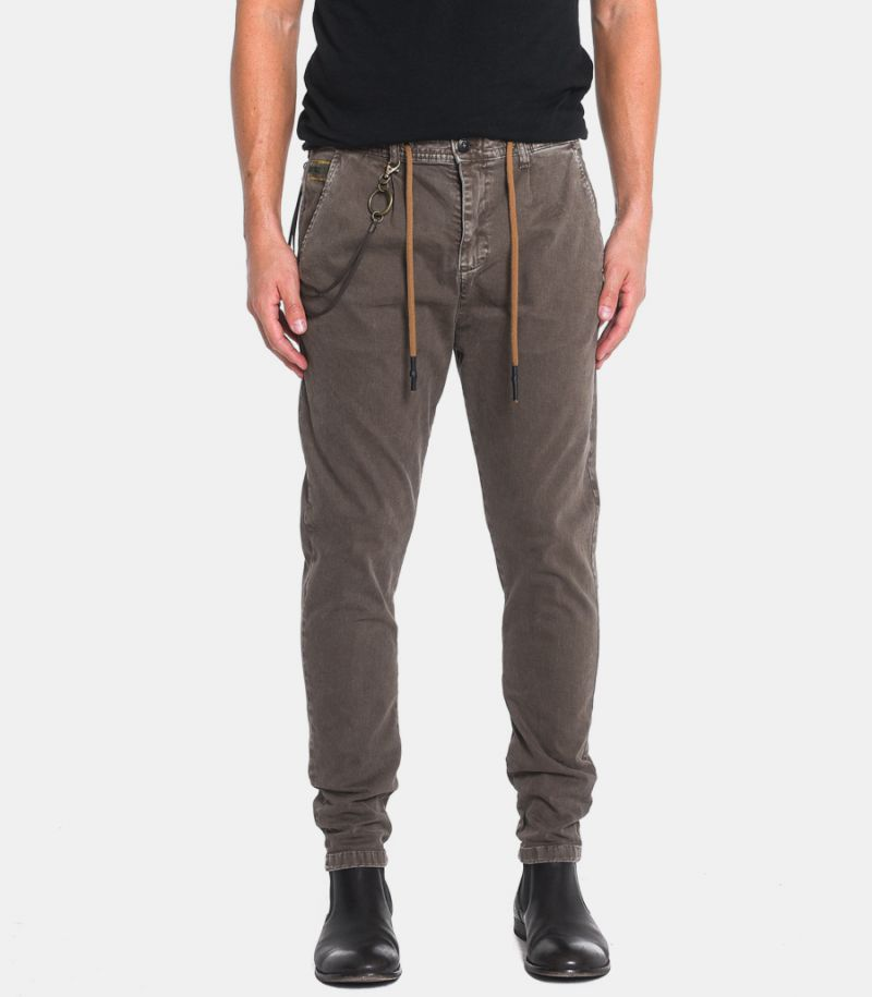 Men's lace trousers with chain mud.1CR4001