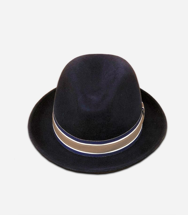 Men's flat hat coppla wool blue. 0516