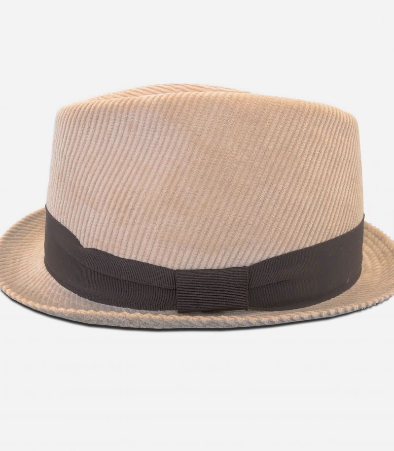 Men's velvet hat with band camel. 0901