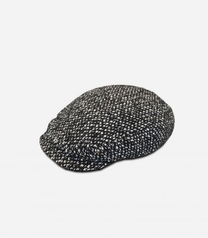 Men's scottish salt & pepper hat black. FIRENZETESS. A