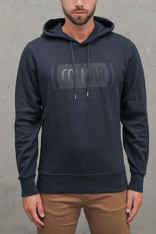 Men's hoodie sweater with logo blue. 8213 - 9UXNAVY/BLUE